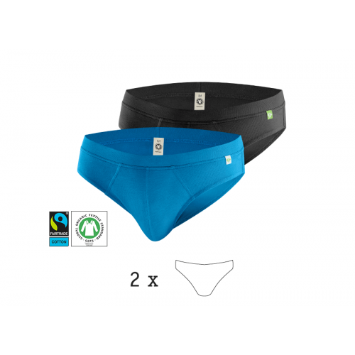 QuickSlip, Men's Briefs 2 Pack, Organic Cotton | kleiderhelden