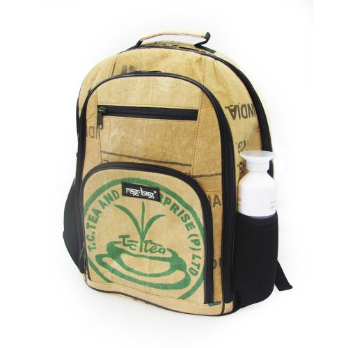 Laptop Backpack made of recycled tea sacks | Ragbag