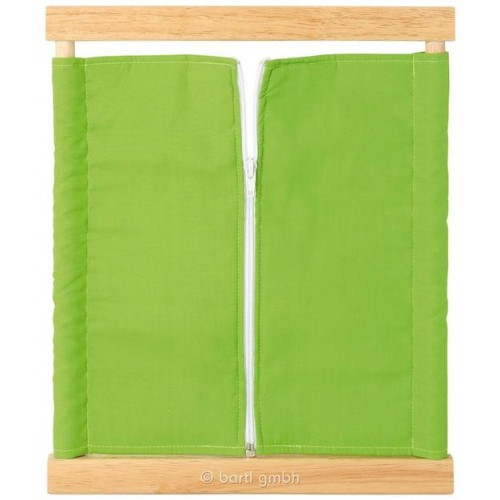 Montessori Zipping Frame made of wood and fabrics | Bartl