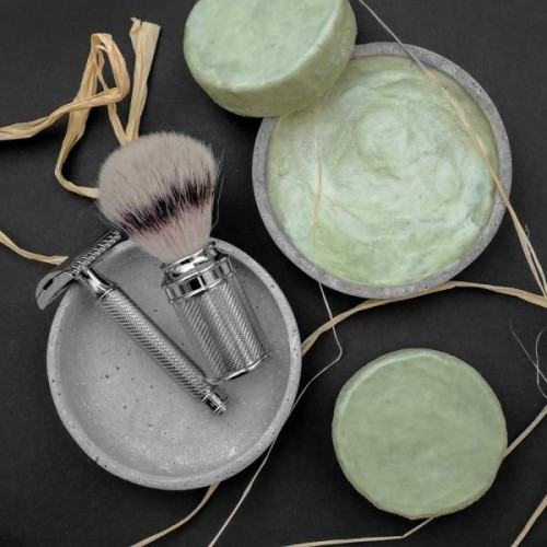Vegan Shaving Soap Roman Road for normal skin » Valloloko