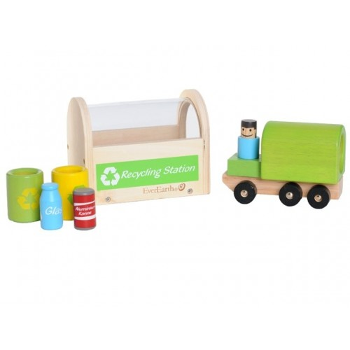 EverEarth Recycling Station made of FSC® Wood - eco toy