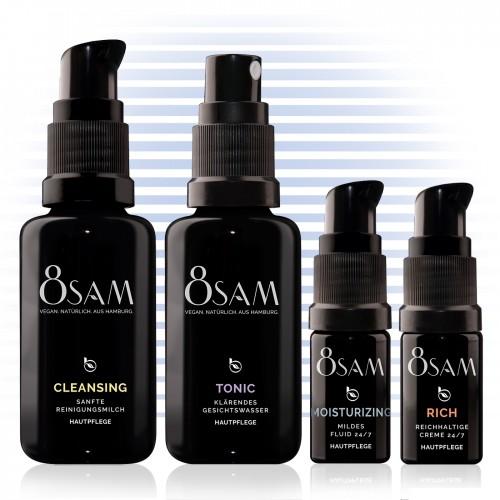 8SAM Travel Kit Mild Rich vegan care set No9 for face & skin