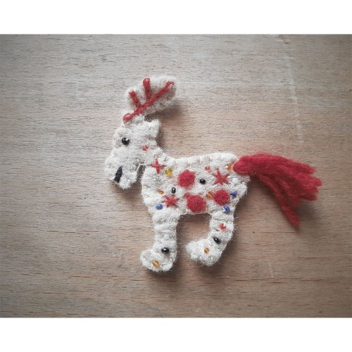 Eco Sew on Patch Wool Felt Reindeer | Ulalue