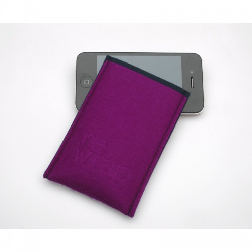 reWrap Smart Phone Cases of recyclable felt pink