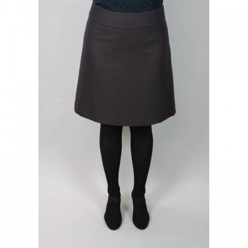 Elegant brown-blue Skirt in bell-like fitting | bloomers