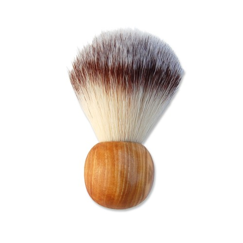 "Vegan Shaving Brush, artificial hair & olive wood handle ""Rondo"" 