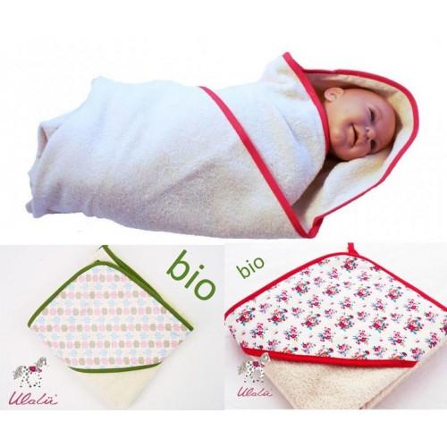 Baby Kapuzen-Badetuch aus Bio-Baumwolle