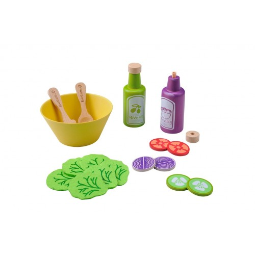 "EverEarth Eco wooden educational toy ""Salad Set"""
