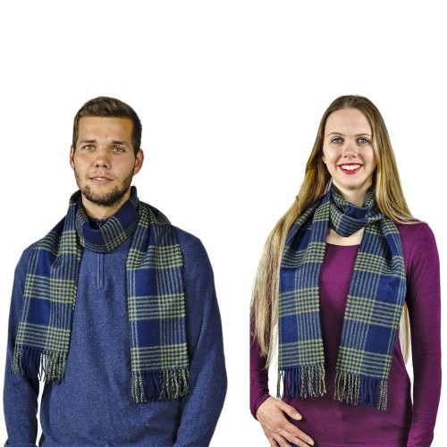 Two-toned Chequers Unisex Alpaca Scarf York | AlpacaOne