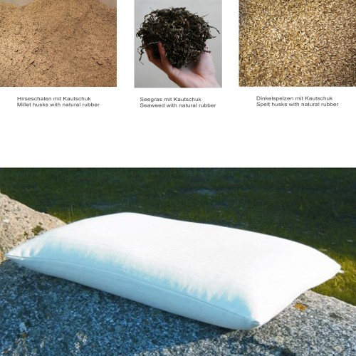 Organic Pillow with natural filling, special size 50x70cm | speltex
