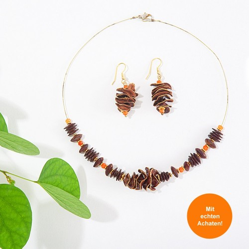 BEEJIKA Jewellery Set TWIST with Achat - Sundara
