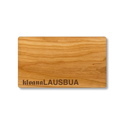 Bavarian Dialect cutting board, cherry wood board | Echtholz