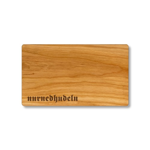 Cherry Wood cutting board with Bavarian Dialect engraving