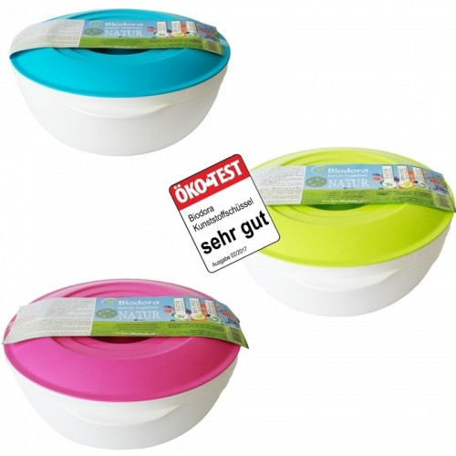 Bioplastic 1 Litre Bowl Set with Lid | Biodora