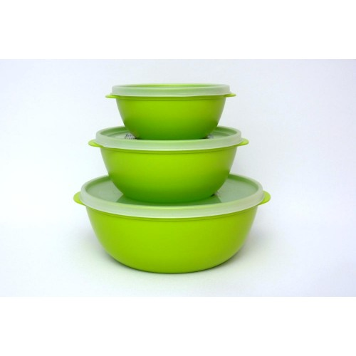 Bioplastic Food Storage Container Set, green - Biodora