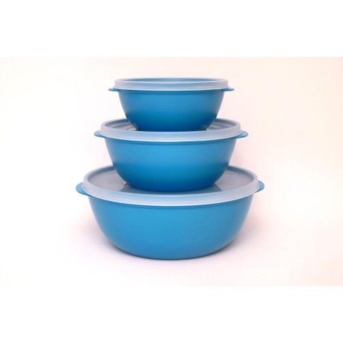 Bioplastic Food Storage Container Set, turquoise - Biodora