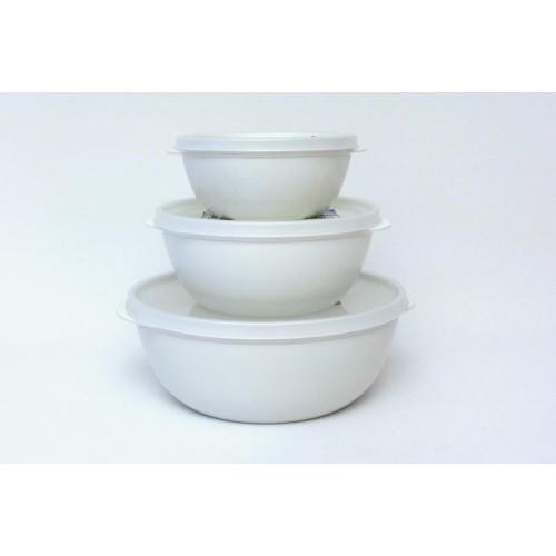 Bioplastic Food Storage Container Set, white - Biodora