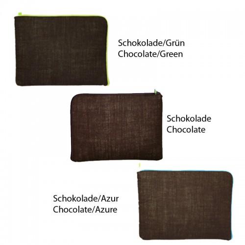 "Öko Laptop Hülle 13"", 15"" & bunter Reißverschluss"