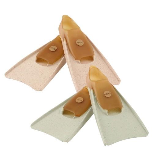 Hevea Eco Swim Fins of natural rubber for kids, mottled