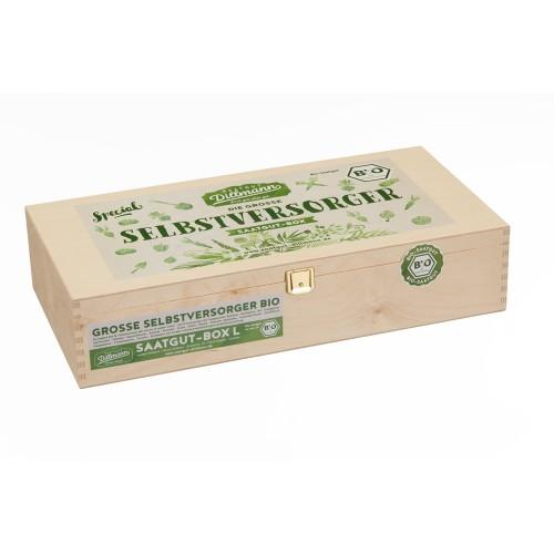 Self-supply Seeds-Box L 22 organic vegetable & herbs seeds | Dillmann