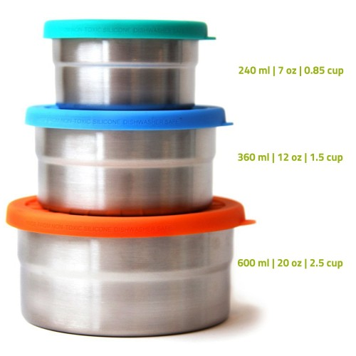 ECOlunchbox Seal Cup Trio Food Container