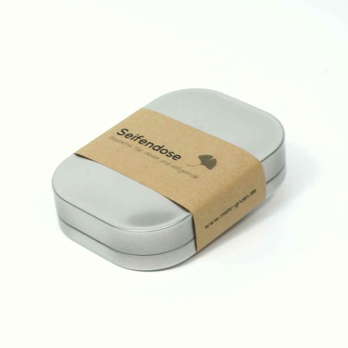 Tinplate Soap Case - plastic-free tin box | mehr gruen