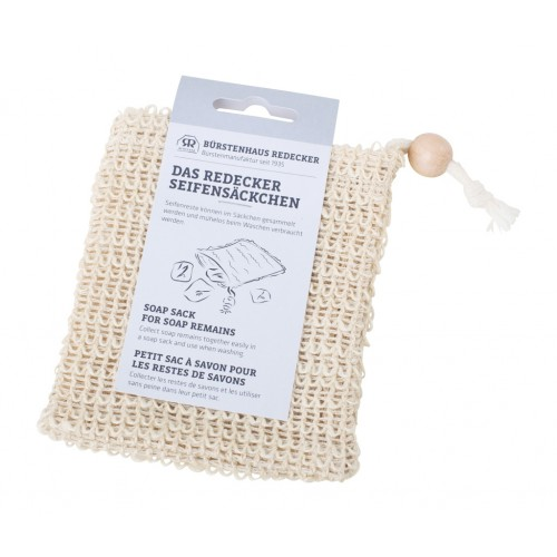 Soap Pouch Cotton & Sisal for leftover soap | Redecker