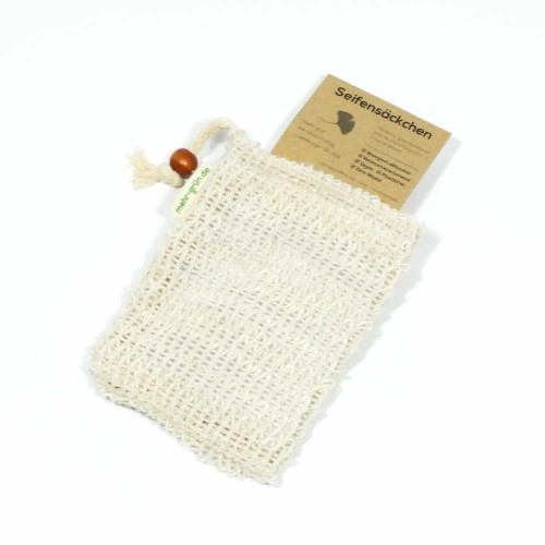 Exfoliating Bag & Soap Saver Pouch of sisal | more green