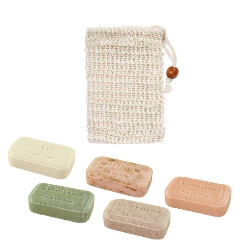 Sisal Soap Net Pouch, optional with Olive Oil Soap » D.O.M.