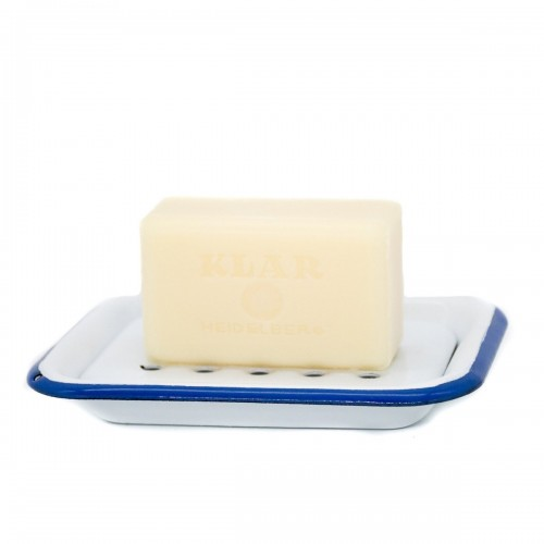 Enamel Soap Dish White-Blue | Klar Soap
