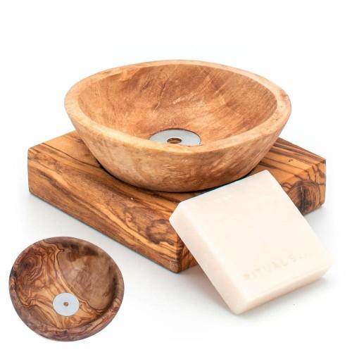 Soap Dish BASSIN olive wood » D.O.M.