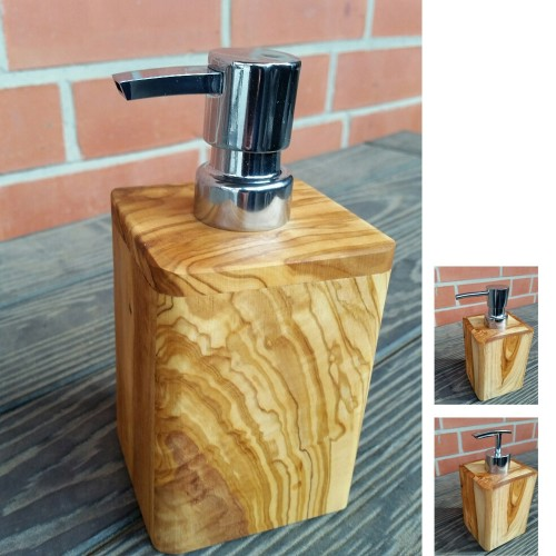 Wooden Soap Dispenser - Olive Wood, various models | D.O.M.
