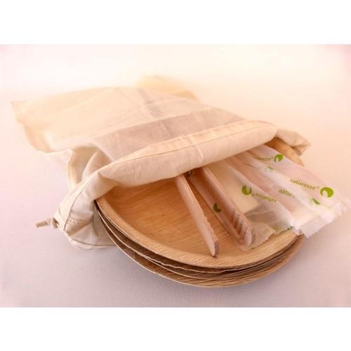 Eco Barbeque Set & Picnic Set for Two & Vegan String Bag