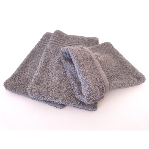 Fairtrade Cotton Wash Mitt 3 pack grey | Clarysse