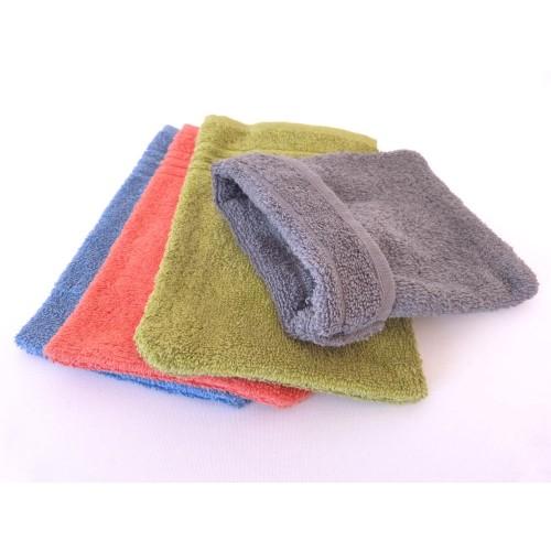 Clarysse C2C Fairtrade Cotton Wash Mitt 4 pack colourful