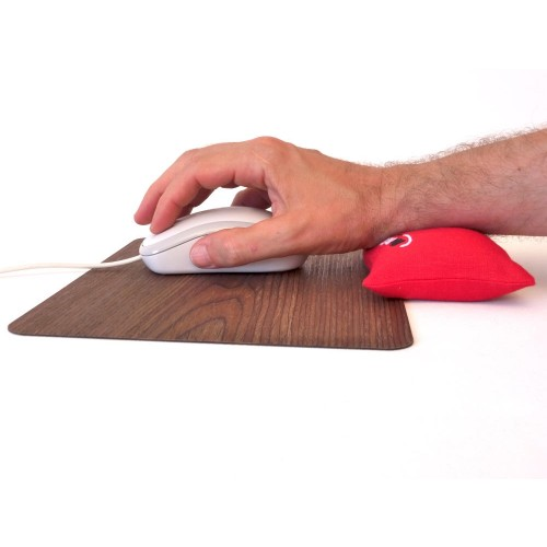 InLine® WoodPad Mouse Pad & McRELAX Wrist Rest Combo