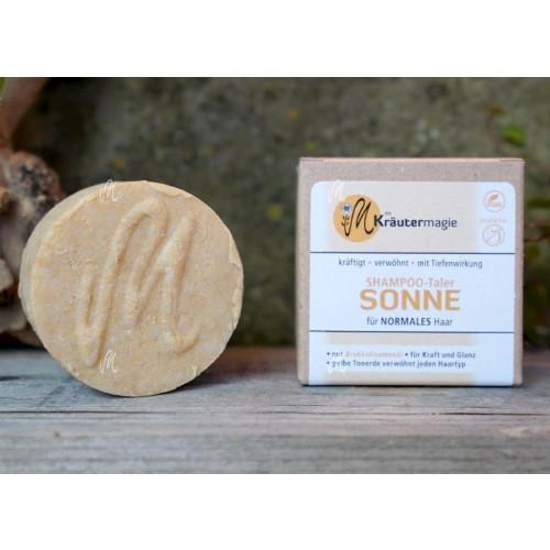 Vegan Solid Shampoo Bar SUN for all hair types | Kraeutermagie