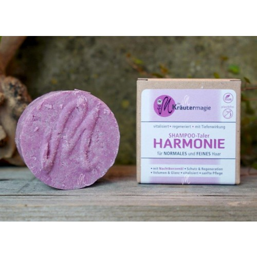 Vegan solid shampoo Harmony for normal & fine hair | Kraeutermagie