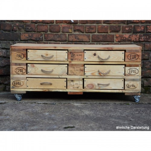 Sideboard of Europallets with 6 drawers