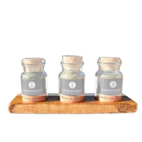 Olive Wood Base for Spice Jar by Ankerkraut | D.O.M.