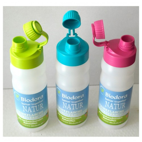 Drinking Bottle with Sport Cap made of bioplastic - turquoise | Biodora