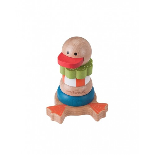 EverEarth Stackable Duck - wooden stacking toy made of FSC® wood