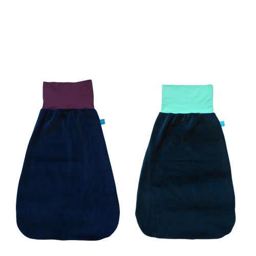 Eco Cotton Swaddle Wrap Navy & colourful waistband | bingabonga