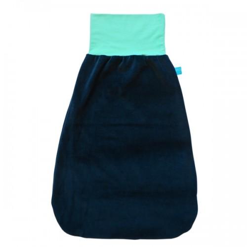 Eco Cotton Swaddle Wrap Navy & colourful waistband | bingabonga