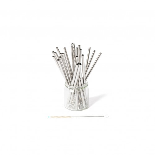 ECO Straws short, stainless steel, 25 pieces | ecobrotbox