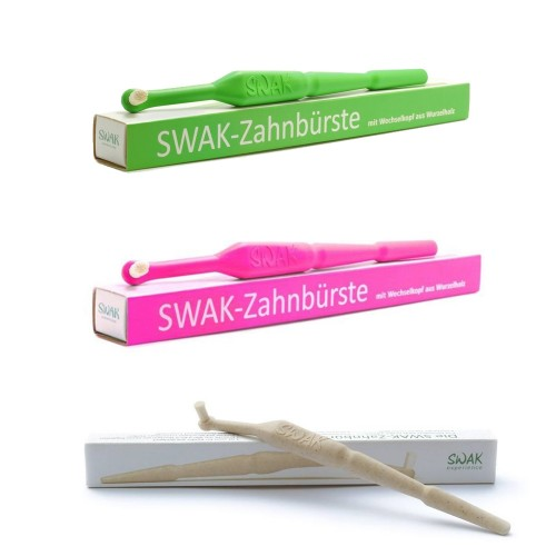 SWAK Toothbrush with replaceable Miswak bristle head