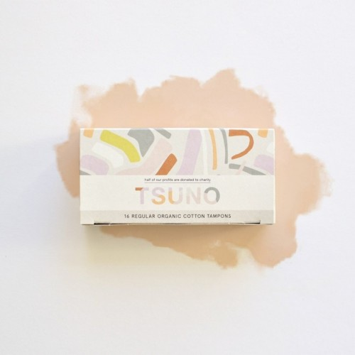 Vegan Organic Cotton Regular Tampons | Tsuno