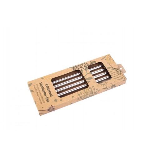 Stainless Steel Drinking Straws Gift Set | Tindobo