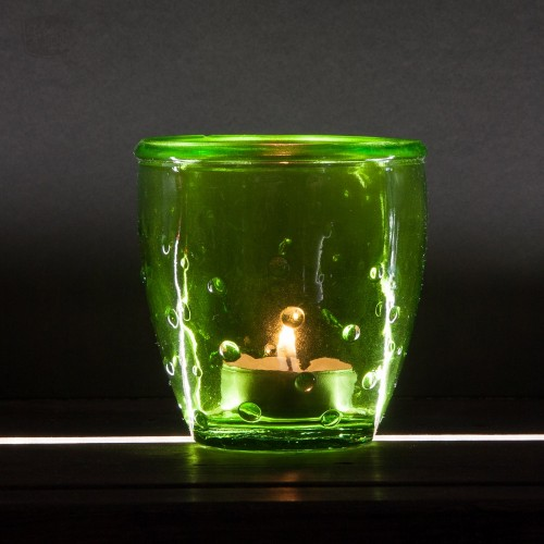 Tea-Light Holder 'Feeling' recycled glass green | VSanmiguel