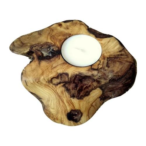 Olive Wood tea light holder NATURE VII root wood design | D.O.M.